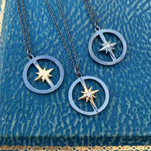 Compass Rose Pendant silver with gold star from Heirloom by Doyle & Doyle 101321N