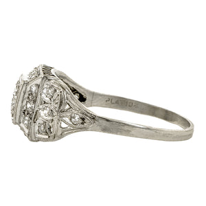 Art Deco Filigree Engagement Ring TRB 0.23ct::Doyle & Doyle