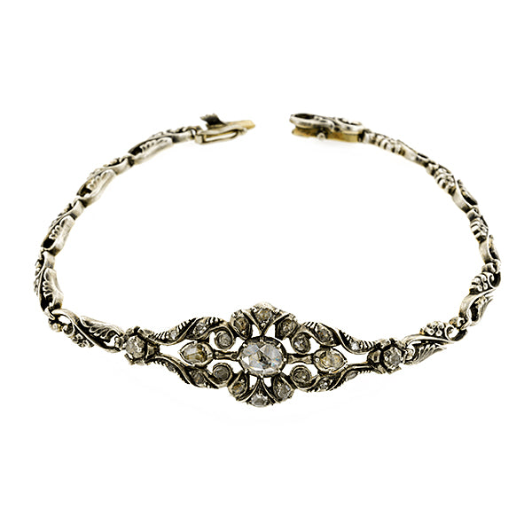 Antique Rose Cut Diamond Bracelet