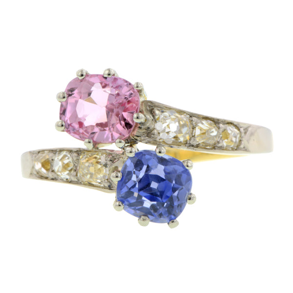 Pink & Blue Sapphire Ring:: Doyle & Doyle