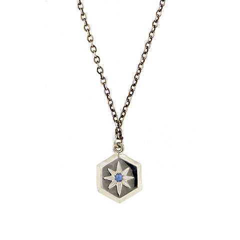 Hex Sapphire Necklace- Heirloom by Doyle & Doyle