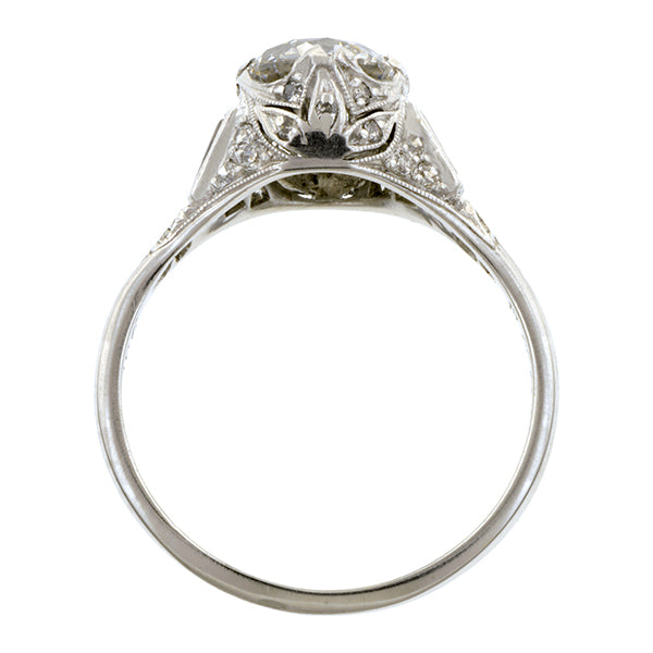 Art Deco Diamond Engagement Ring, TRB 1.17ct:: Doyle & Doyle