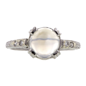 Moonstone & Diamond Ring:: Doyle & Doyle