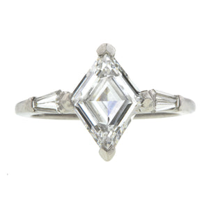Vintage Diamond Engagement Ring, Lozenge 1.39ct