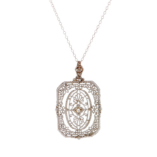 Art Deco Filigree Pendant