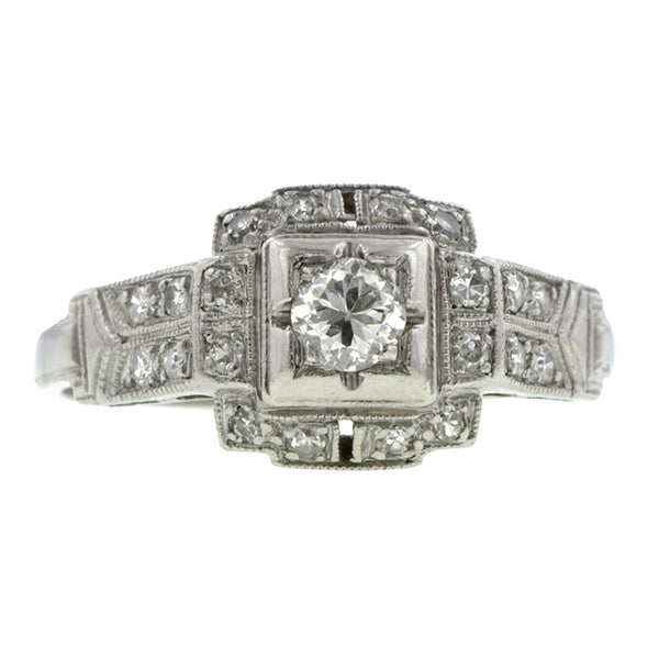 Art Deco Diamond Engagement Ring, TRB 0.24ct:: Doyle & Doyle