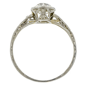 Vintage Filigree Engagement Ring, Old Euro; 1.07ct::Doyle & Doyle