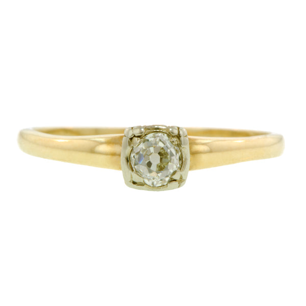 Diamond Solitaire Ring, Old Mine 0.20ct:: Doyle & Doyle