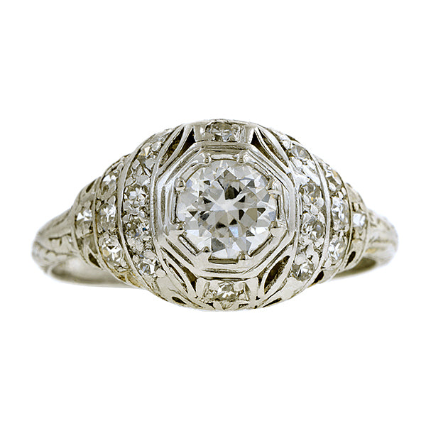 Art Deco Diamond Engagement Ring, TRB 0.55ct::Doyle & Doyle