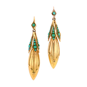 Victorian Turquoise Earrings:: Doyle & Doyle