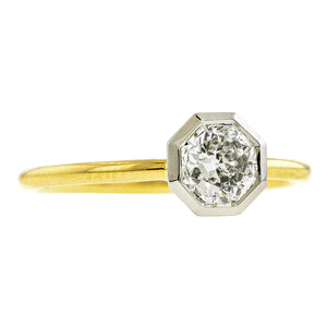 Bezel Set Octagonal Engagement Ring, 0.81ct.- Heirloom by Doyle & Doyle:: Doyle & Doyle