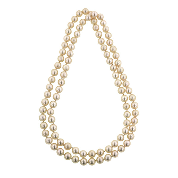 Long Single Strand Pearl Necklace No Clasp :: Doyle & Doyle