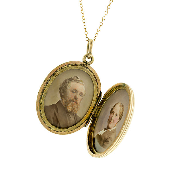 Victorian Forget me Not Locket:: Doyle & Doyle