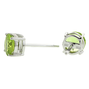 Peridot Stud Earrings, RBC 1.70ctw