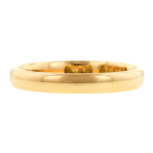 Vintage Gold Patterned Wedding Band:: Doyle & Doyle