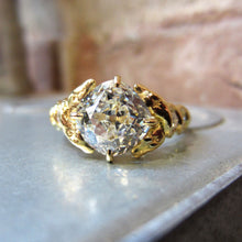 Entwined Snake Diamond Engagement Ring, Cushion 2.60ct. Heirloom by Doyle & Doyle