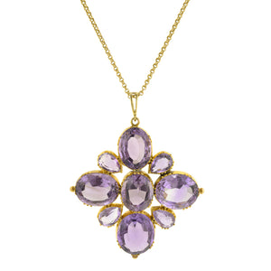 Victorian Amethyst Cluster Necklace