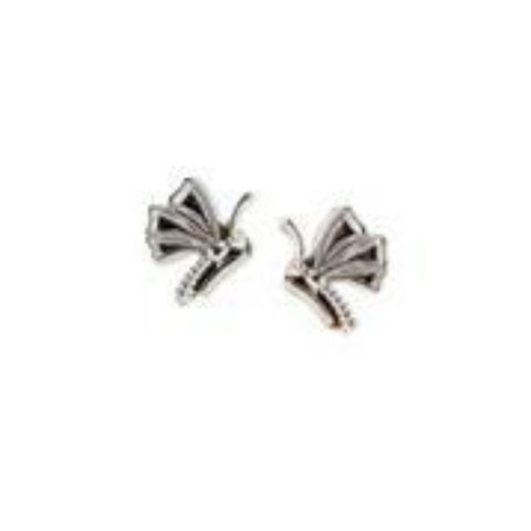 Butterfly earrings in gold designed by Heirloom by Doyle & Doyle