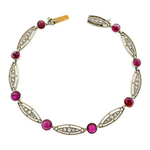 Art Deco Ruby & Diamond Bracelet