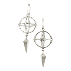 Globe Drop Earrings-Heirloom by Doyle & Doyle::