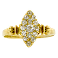 Victorian Navette Shaped Diamond Cluster Ring :: Doyle & Doyle