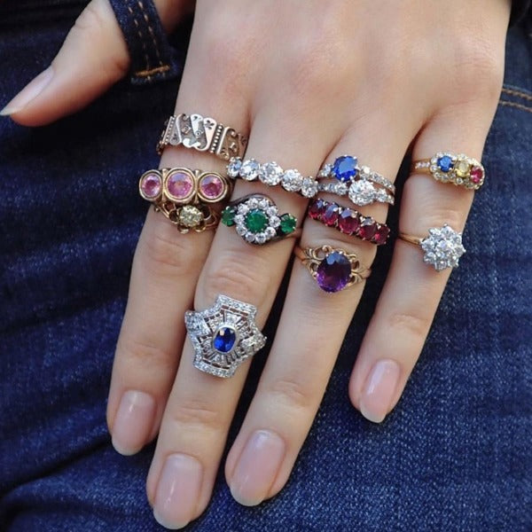 Doyle & Doyle antique and vintage gemstone and diamond rings