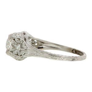 Art Deco Engagement Ring, Old Euro 0.96ct :: Doyle & Doyle