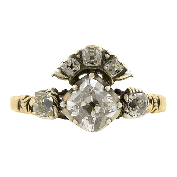 Georgian Diamond Ring, Mazarin 1.25ct:: Doyle & Doyle