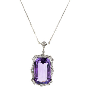 Vintage Amethyst & Diamond Necklace:: Doyle & Doyle