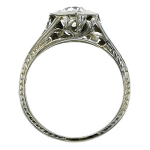 Vintage Filigree Engagement Ring, Old Euro, 0.70ct::Doyle & Doyle