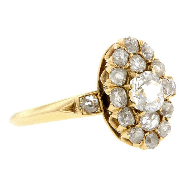 Victorian Oval Diamond Cluster Ring Doyle & Doyle