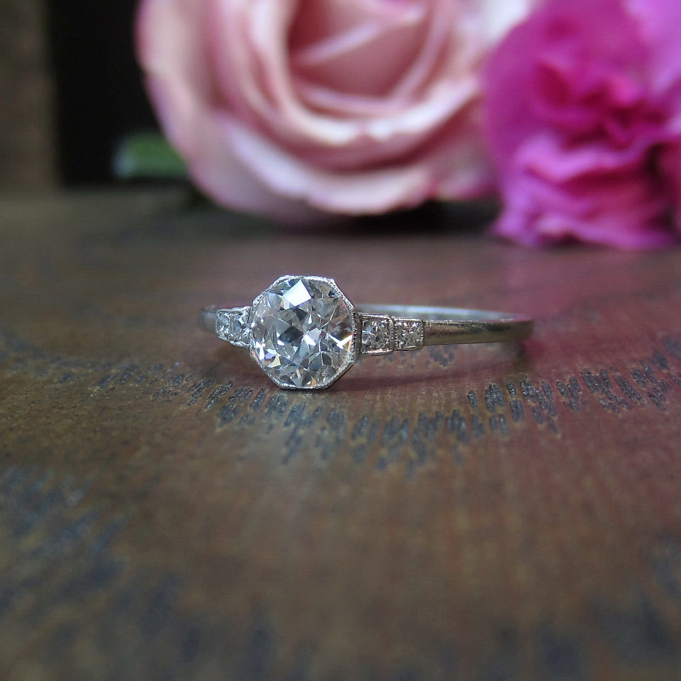 Art Deco Diamond Engagement Ring, Old Euro 0.72ct:: Doyle & Doyle