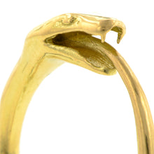 Contemporary ring: a Yellow Gold Ouroboros Snake Ring- Heirloom sold by Doyle & Doyle vintage and antique jewelry boutique.