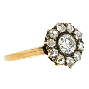 Victorian Diamond Cluster Ring, Old Euro 0.49ct:: Doyle & Doyle
