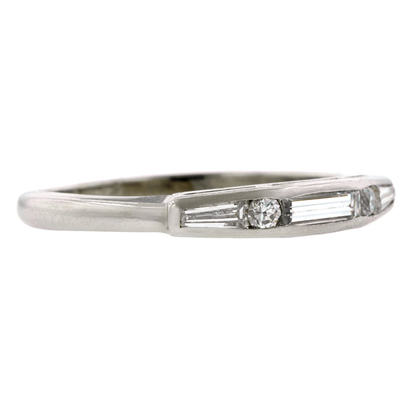 Vintage Baguette Diamond Wedding Band:: Doyle & Doyle