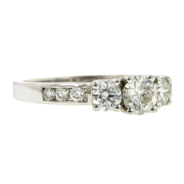 Vintage Solitaire Diamond Engagement Ring, RBC 0.28ct::Doyle & Doyle