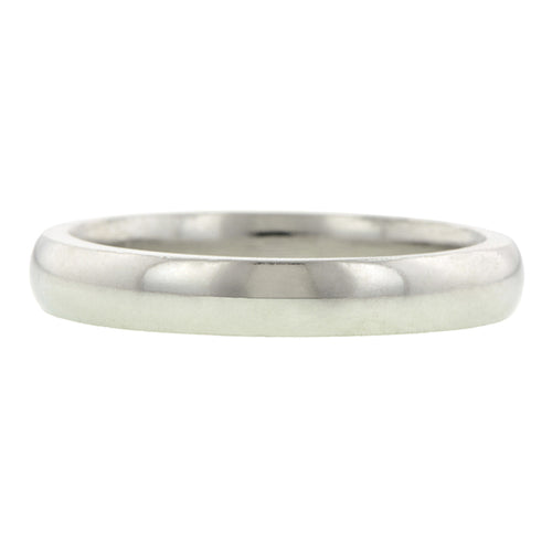 3mm Platinum Comfort Fit Band Size 3