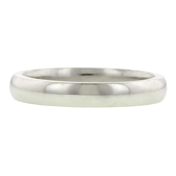 Contemporary ring: a Platinum 3mm Comfort Fit Wedding Band sold by Doyle & Doyle vintage and antique jewelry boutique.