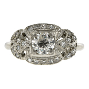 Vintage Diamond Engagement Ring, TRB 0.66ct::Doyle & Doyle