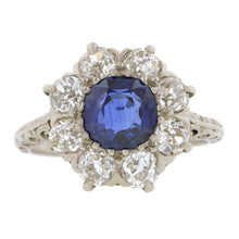Antique Sapphire & Diamond Ring