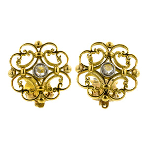 Estate Filigree Rose Cut Diamond Earrings:: Doyle & Doyle