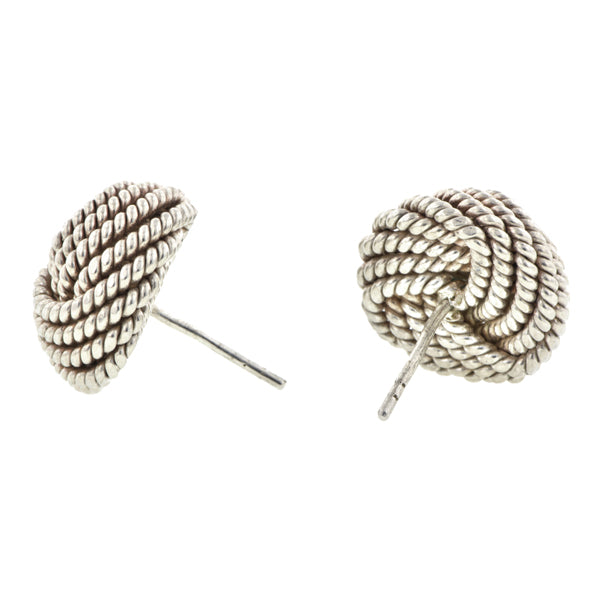 Vintage Braided Knot Post Earrings::Doyle & Doyle