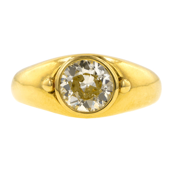Vintage Bezel Set Diamond Ring