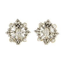 Vintage Diamond Snowflake Earrings