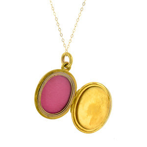 Victorian Ruby & Diamond Locket