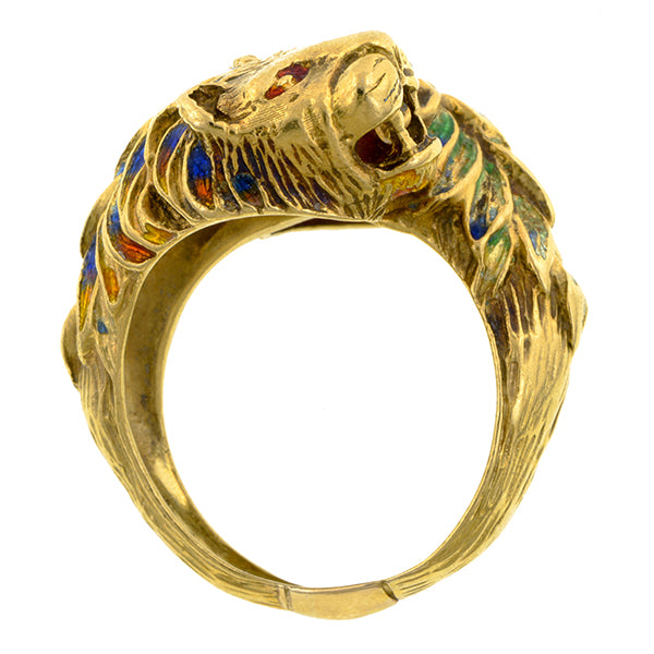 Vintage Double Lion Crossover Ring:: Doyle & Doyle