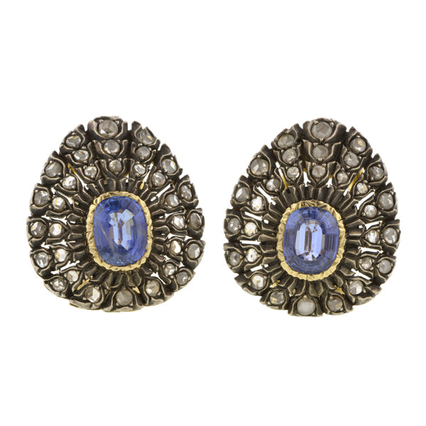 Buccelatti Sapphire & Diamond Earrings