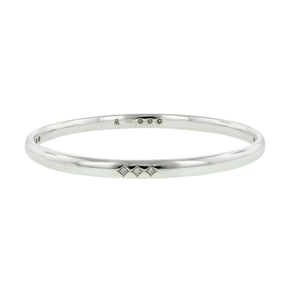 Triple Station Diamond Bangle Bracelet- Heirloom by Doyle & Doyle