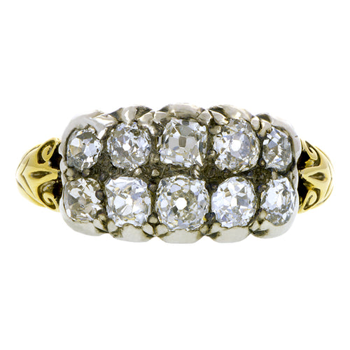 Georgian Double Row Diamond Band Ring:: Doyle & Doyle