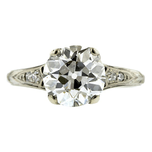 Edwardian Diamond Engagement Ring, Old Euro 1.59ct